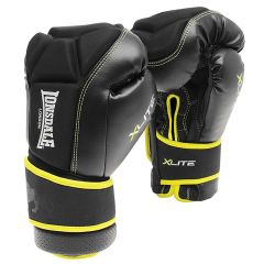 "alt=""Lonsdale X-lite Bag Glove Black/acid Green - MMA training gloves"""