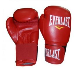 Everlast PU Leather Boxing Glove Red