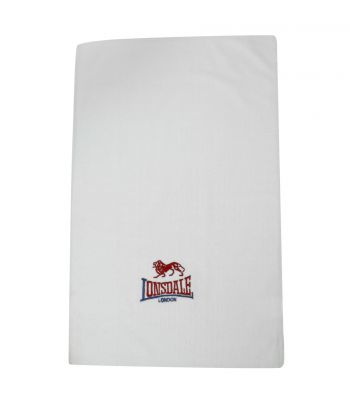 Lonsdale Trainers Towel White Hand Towel