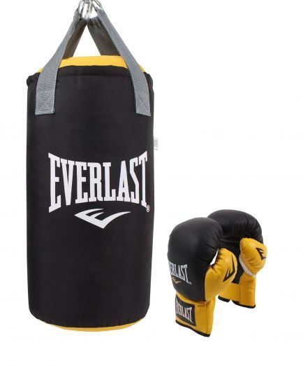 Everlast Junior 2ft Boxingset Black/Yellow